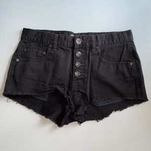 Free People Black Denim Shorts *Worn Once*